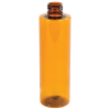 8 oz. Amber PET Cylinder Bottle with 24/410 Neck  (Cap Sold Separately)