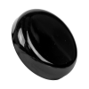 48/400 Black Polypropylene Dome Cap