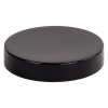58/400 Black Polypropylene Smooth Unlined Cap