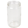 32 oz. Clear Glass Straight Sided Jar with 89/400 Neck - Case of 12 (Cap Sold Separately)