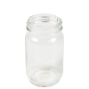 8 oz. Glass Mayo Round Jar with 58/400 Neck - Case of 24 (Cap Sold Separately)