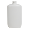 8 oz. White HDPE Oval Bottle with 24/410 Neck  (Cap Sold Separately)