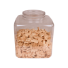 240 oz. Clear PET Square Jar with 120mm Neck (Cap sold separately)