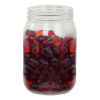 16 oz. Clear PET Jar with 70/400 Neck (Caps Sold Separately)
