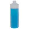 8 oz. LDPE Natural Cylinder Bottle with 24/410 Neck  (Cap Sold Separately)