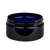 8 oz. Cobalt Blue PET Straight Sided Jar with 89/400 Neck (Cap Sold Separately)