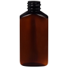 2 oz. Light Amber PET Drug Oblong Bottle with 20/410 Neck  (Cap Sold Separately)
