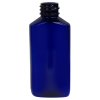 2 oz. Cobalt Blue PET Drug Oblong Bottle with 20/410 Neck  (Cap Sold Separately)