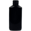 2 oz. Black PET Drug Oblong Bottle with 20/410 Neck  (Cap Sold Separately)