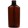 6 oz. Light Amber PET Drug Oblong Bottle with 24/410 Neck  (Cap Sold Separately)