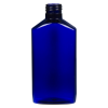 6 oz. Cobalt Blue PET Drug Oblong Bottle with 24/410 Neck  (Cap Sold Separately)