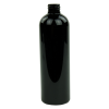 12 oz. Black PET Cosmo Round Bottle with 24/410 Neck (Cap Sold Separately)