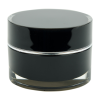 30mL Acrylic Black/Silver Round Jar with Liner & Lid