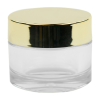30mL Clear PETG Jar with Gold Cap & Liner