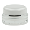 15mL Clear/Silver Acrylic Jar with Lined Cap