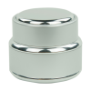 15mL Brushed Aluminum Glass Jar with Lined Cap