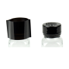 77mm W x 25mm Hgt. Black Shrink Bands with Perforations (Fits 43mm Approx. Cap Size)