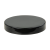 70/400 Black Polypropylene Smooth Unlined Cap