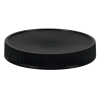 70/400 Black Polypropylene Deep Recessed Unlined Ribbed Cap