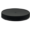 89/400 Black Polypropylene Deep Recessed Unlined Ribbed Cap