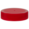 63/400 Red Polypropylene Unlined Ribbed Cap
