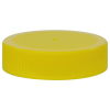 63/400 Yellow Polypropylene Unlined Ribbed Cap