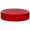 70/400 Red Polypropylene Unlined Ribbed Cap