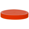 100/400 Orange Polypropylene Unlined Ribbed Cap