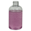 6 oz. Clear PET Squat Boston Round Bottle with 24/410 Neck (Caps Sold Separately)