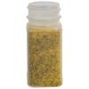 4 oz. Natural Polypropylene Square Spice Jar with 43/485 Neck (Cap Sold Separately)