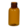 1 oz. Clarified Amber PET Squat Boston Round Bottle with 20/410 Neck (Caps Sold Separately)