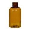 2 oz. Clarified Amber PET Squat Boston Round Bottle with 20/410 Neck (Caps Sold Separately)
