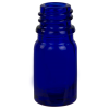 5mL/.17 oz. Cobalt Blue Glass Boston Round Bottle with 18mm Neck (Cap & Reducer Sold Separately)
