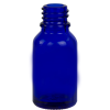 15ml/1/2 oz. Cobalt Blue Glass Boston Round Bottle with 18mm Neck (Cap & Reducer Sold Separately)