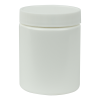 6 oz. White HDPE Wide Mouth Jar with 58/400 Cap