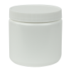 16 oz. White HDPE Wide Mouth Jar with 89/400 Cap