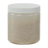 19 oz. Natural HDPE Wide Mouth Jar with 89/400 Cap
