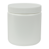 19 oz. White HDPE Wide Mouth Jar with 89/400 Cap
