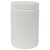 25 oz. White Straight Sided Jar with 89/400 Cap