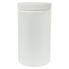 32 oz. White HDPE Wide Mouth Jar with 89/400 Cap