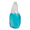 32 oz. Clear PET Ribbed Oval Spray Bottle with 28/400 Neck (Sprayer Sold Separately)