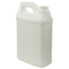 64 oz. White Fluorinated F-Style Jug with 38/400 Neck (Cap Sold Separately)