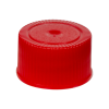 18/400 Red Polypropylene Unlined Ribbed Cap