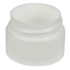 1/4 oz. Straight Sided Double Wall White Jar with 33/400 Neck (Cap Sold Separately)
