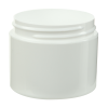 2 oz. Straight Sided Double Wall White Jar with 58/400 Neck (Cap Sold Separately)