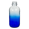 120mL Faded Blue E-Liquid Boston Round Glass Bottle with 22/400 Neck (Cap Sold Separately)