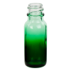 15mL Faded Green E-Liquid Boston Round Glass Bottle with 18/400 Neck (Cap Sold Separately)