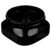 4 oz. Black PET Firenze Square Jar with 70/400 Neck (Cap Sold Separately)