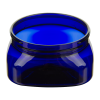 4 oz. Cobalt Blue PET Firenze Square Jar with 70/400 Neck (Cap Sold Separately)