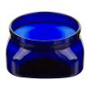 4 oz. Cobalt Blue PET Firenze Square Jar with 70/400 Neck (Cap Sold Separately)